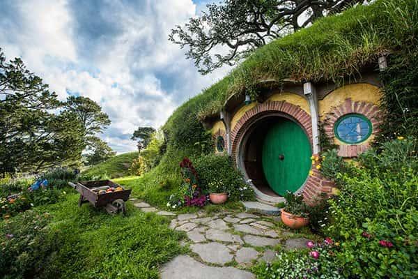Дом хоббитов в Новой Зеландии