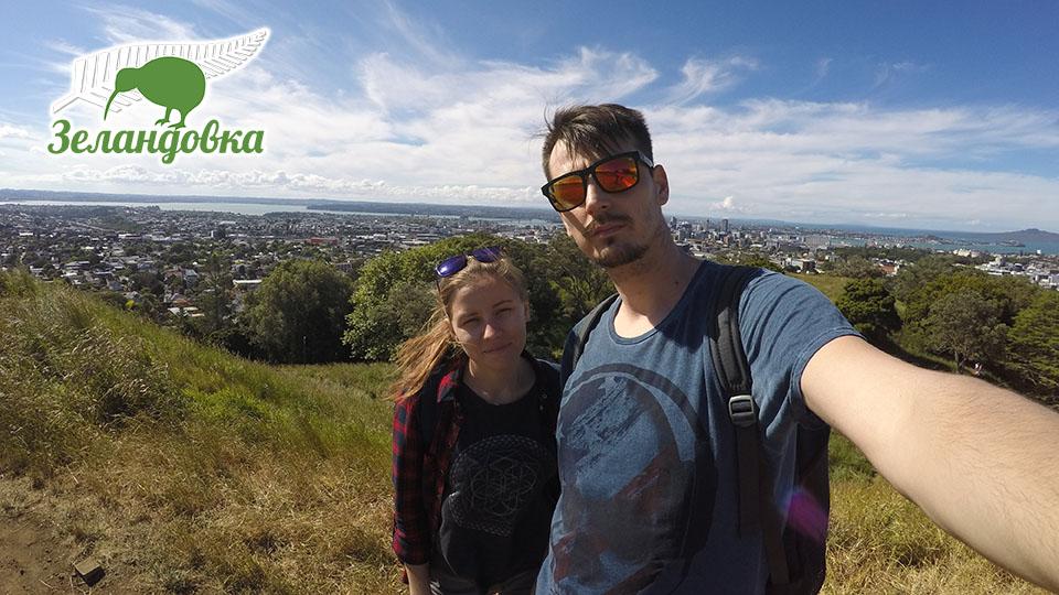 Наталья с мужем. Жизнь, учеба и работа в Новой Зеландии