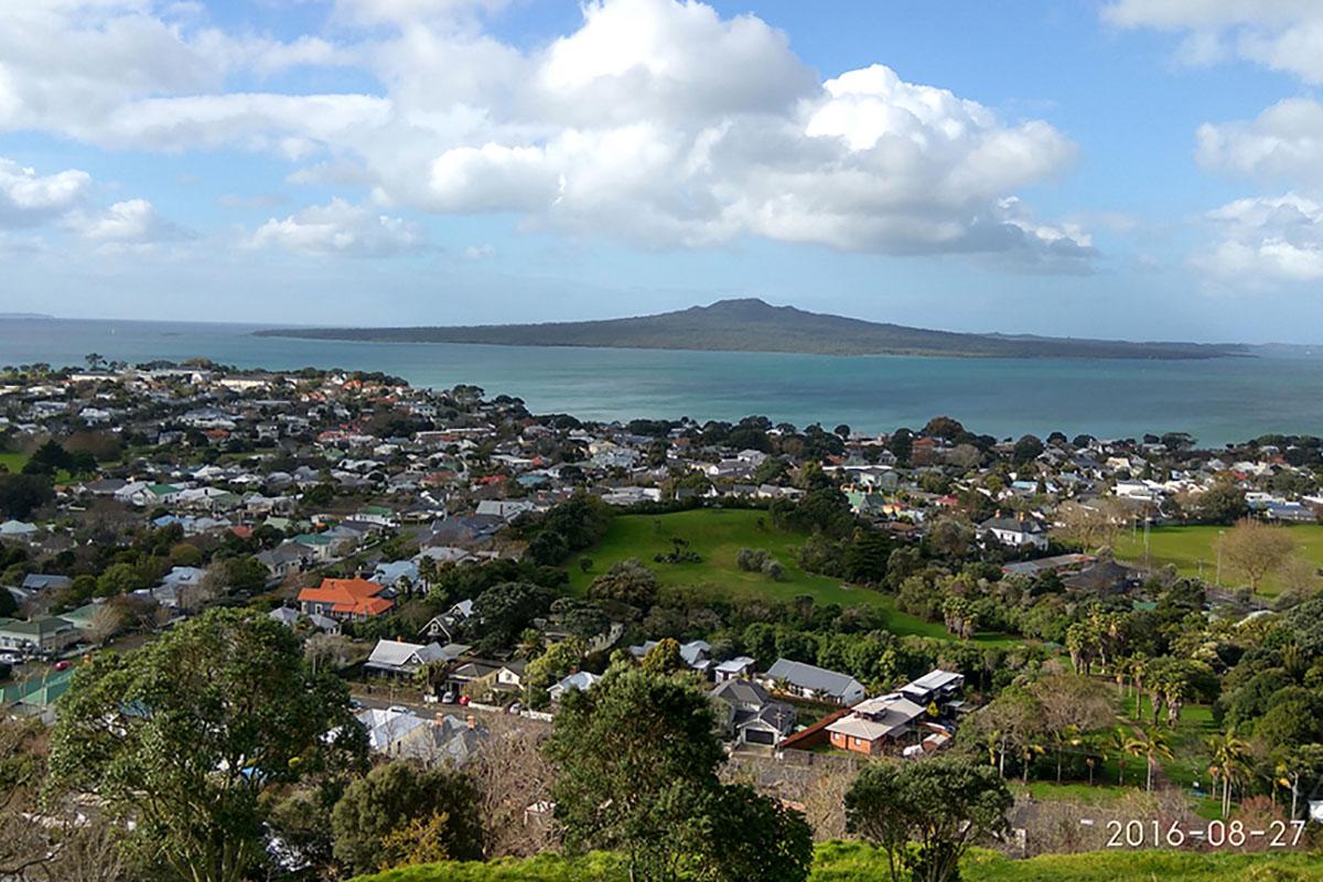 Красивый пейзаж Новой Зеландии