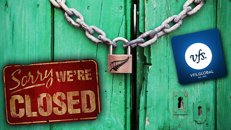 Закрытие новозеландского визового центра в России