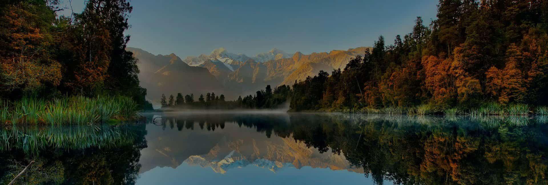 Красивое озеро в Новой Зеландии