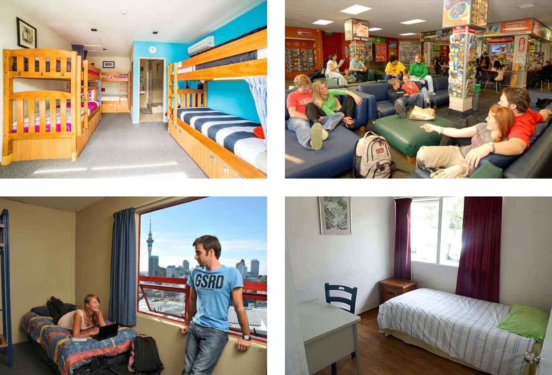 Студенты в хостеле в Окленде