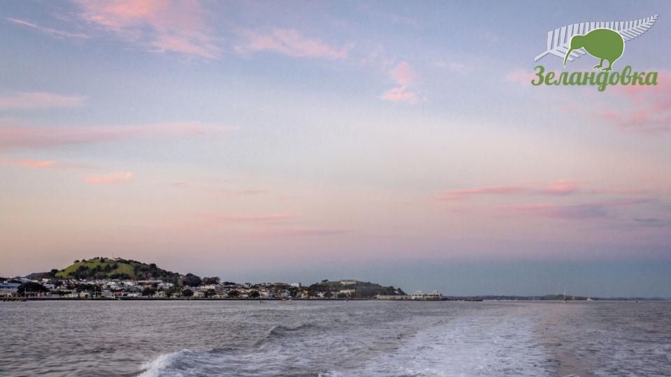 Красивый закат в Новой Зеландии