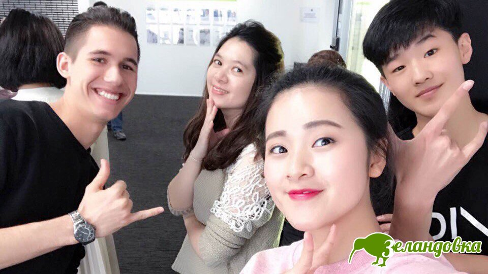 Лев с одноклассниками в институте Aspire2