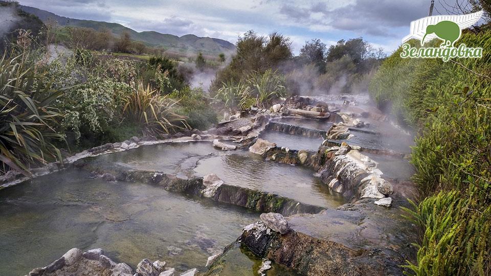 Горячие ручьи в Новой Зеландии