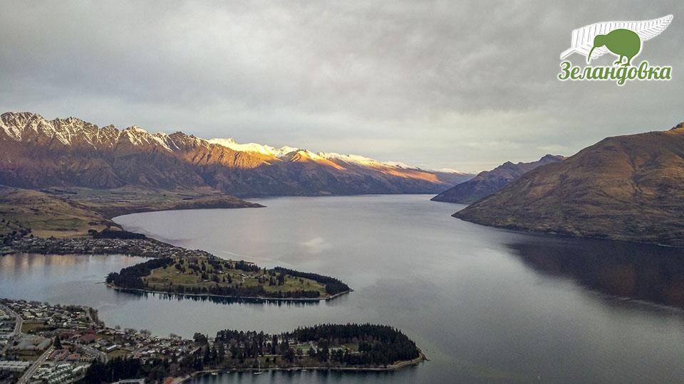 Красивый панорамный вид Новой Зеландии