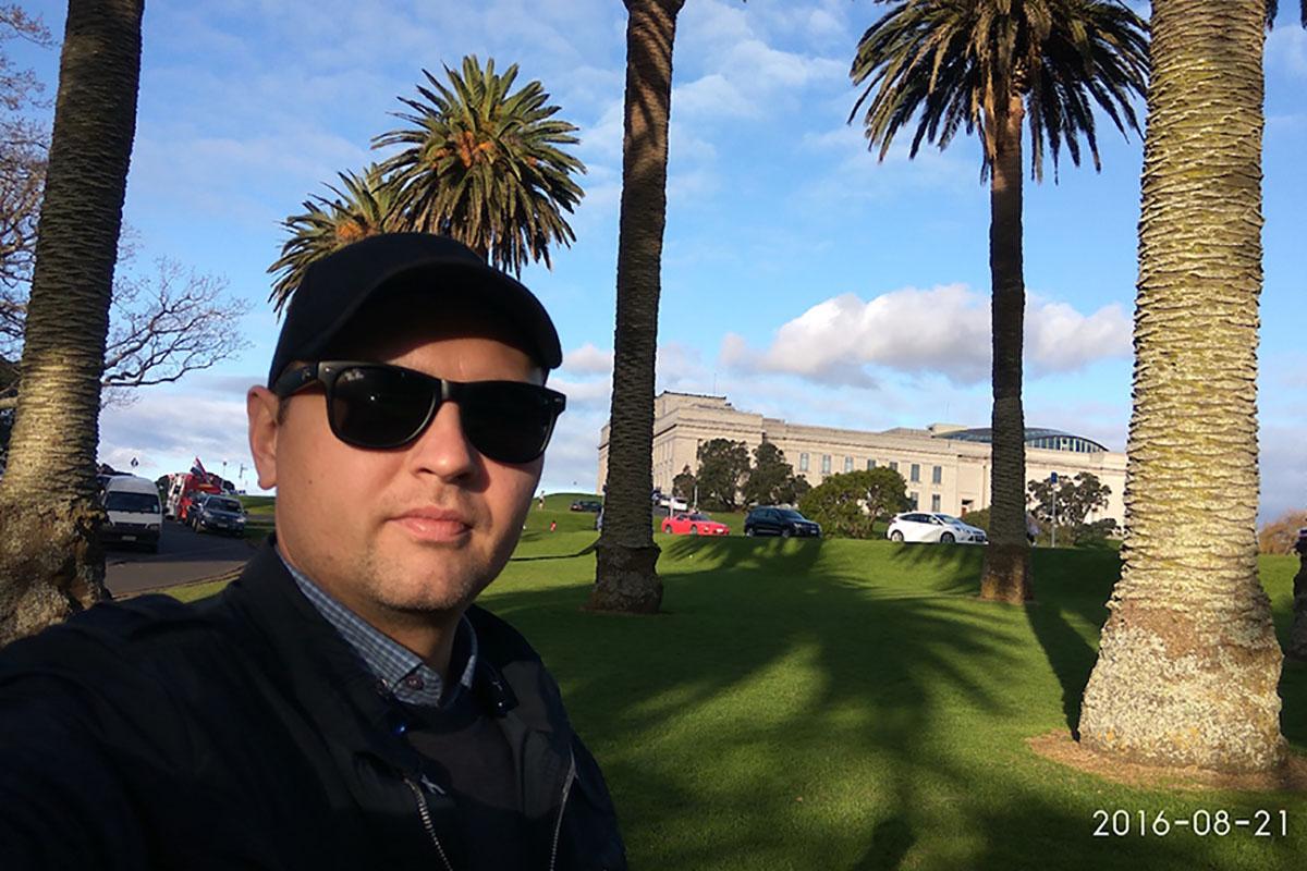 Михаил в парке