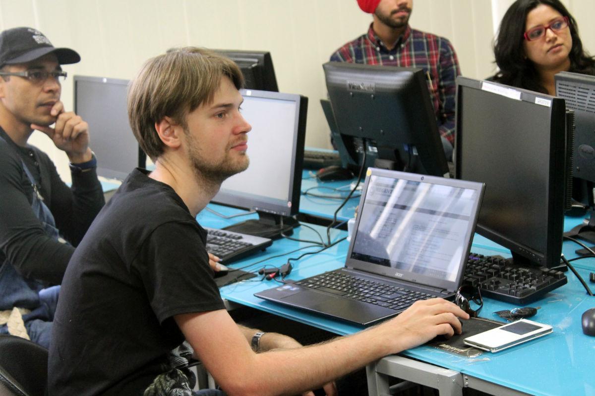 Алексей на занятиях в Риджент.