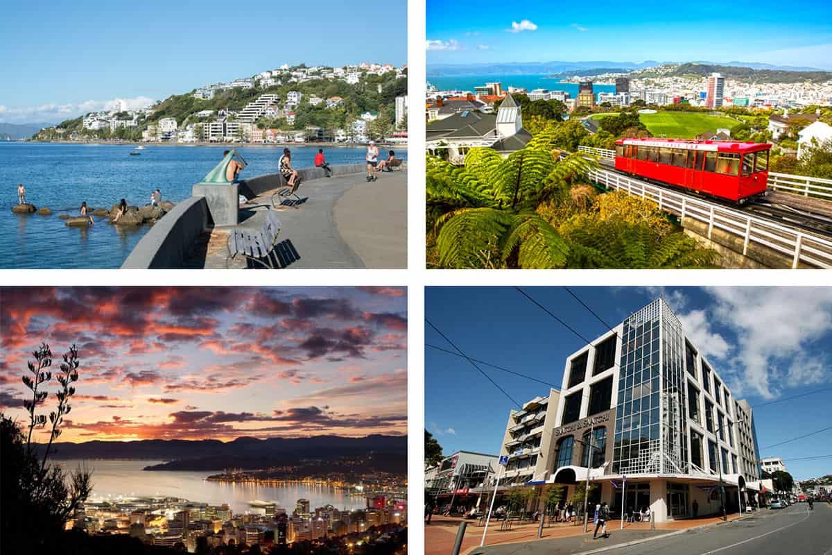 Столица Новой Зеландии Веллингтон и кампус языковой школы NZLC