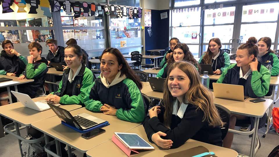 Подростковая группа в Kiwi English Academy
