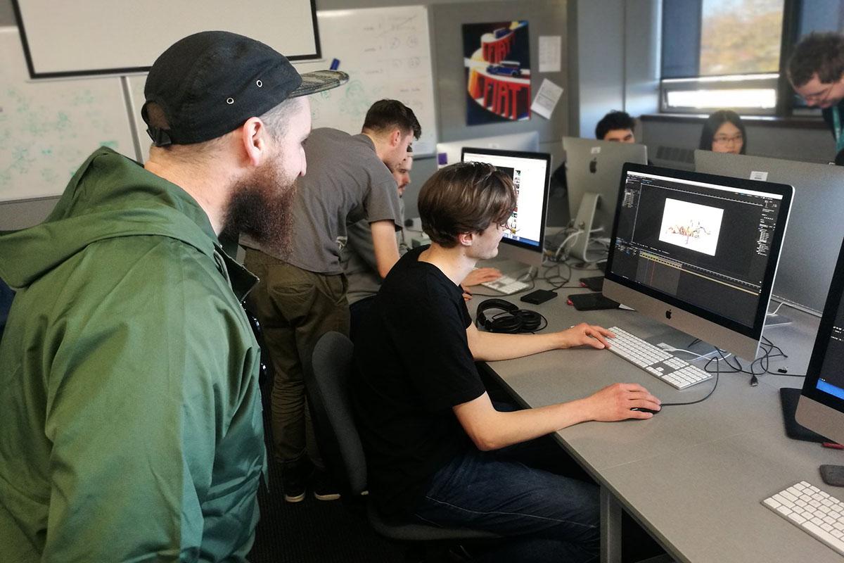 Урок графического дизайна в Ara Institute of Canterbury