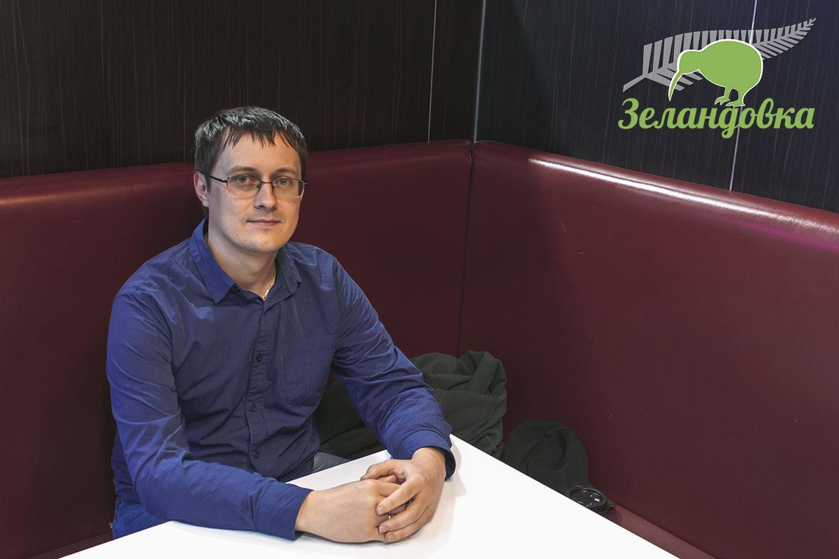 Евгений дает интервью Зеландовке