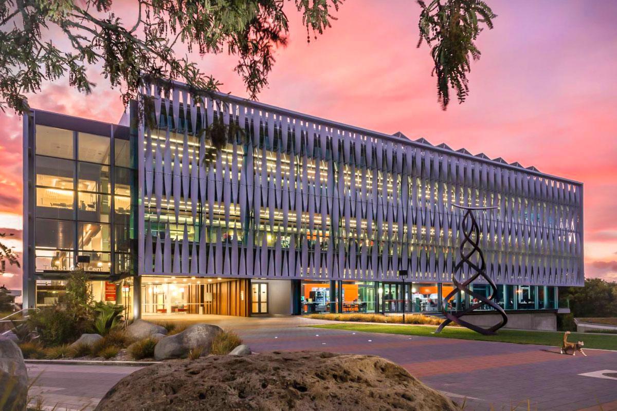 Кампус университета Вайкато на закате